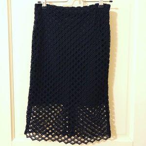 Zara Basic Black Pencil skirt